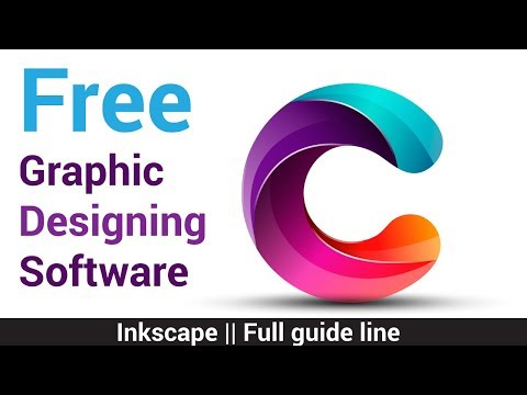 Free graphic design software || Inkscape graphic design and photo editing