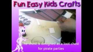 Make A Cardboard Pirate Treasure Chest Loot Box