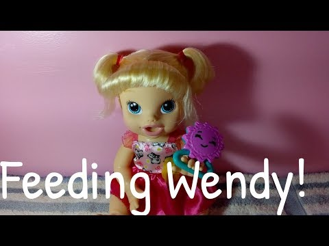 Feeding BABY ALIVE Wendy💕|Collab with Amanda's Doll Life💞