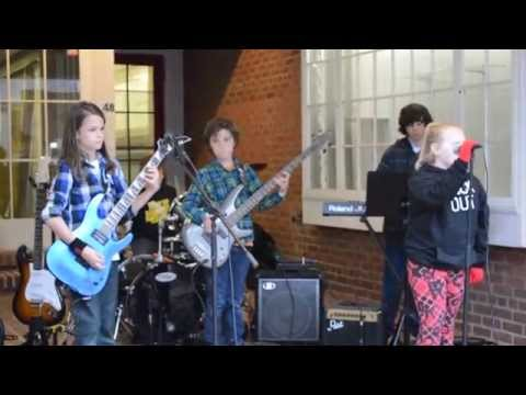 """Livin on a Prayer""  Bon Jovi cover by kid band Fast As Lightning"