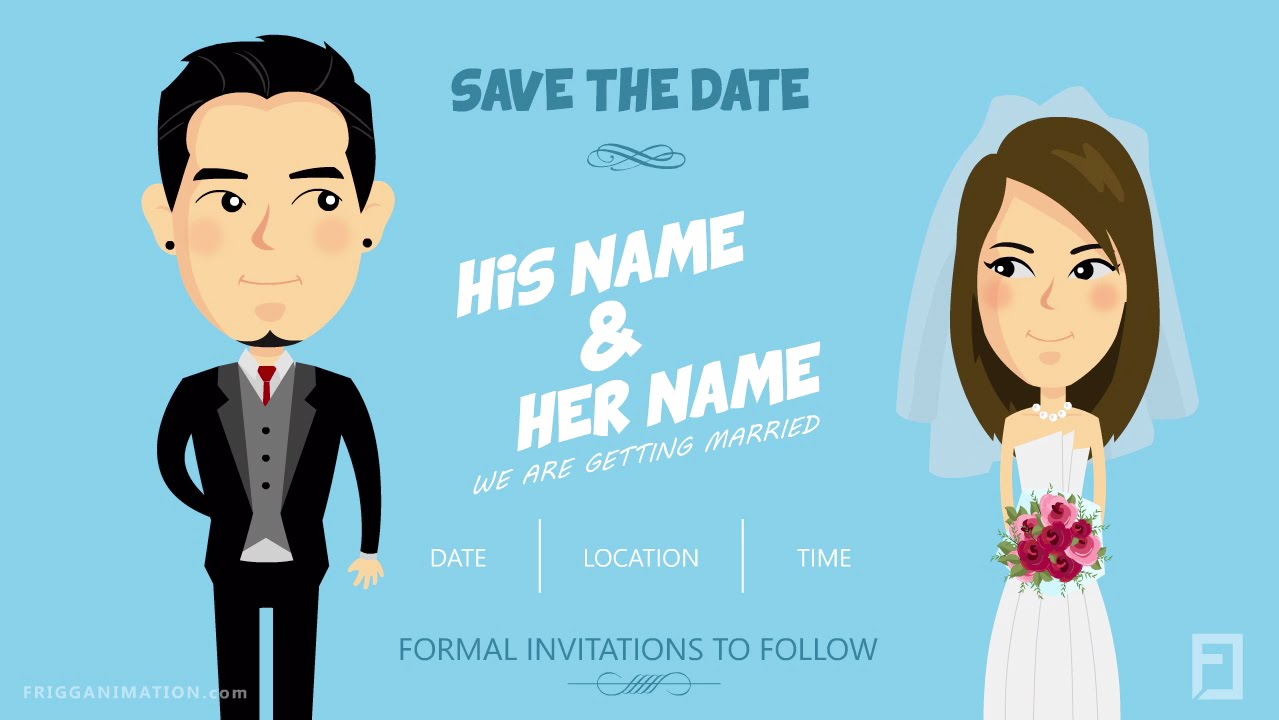 save the date template 03 by frigg animation youtube