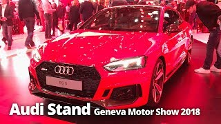 Audi Stand at Geneva Motor Show 2018 | RS3 RS4 RS5 A6 A7 A8 R8 + More!