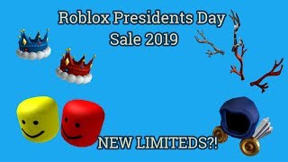 ROBLOX PRESIDENTS DAY SALE 2019 (NEW LIMITEDS)
