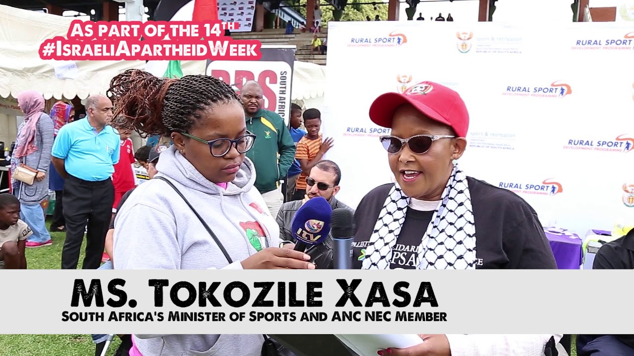 South Africa's Sports Minister at Palestine solidarity soccer tournament