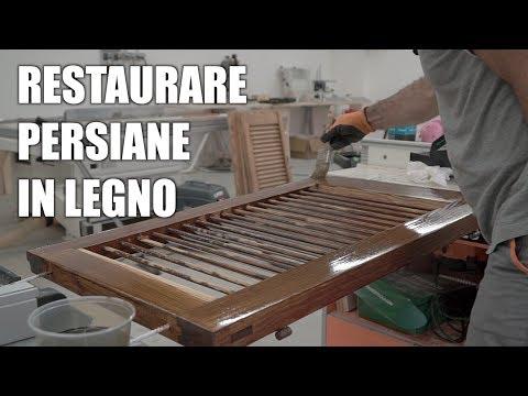 COME RESTAURARE DELLE PERSIANE IN LEGNO - Verniciatura del legno per  esterno