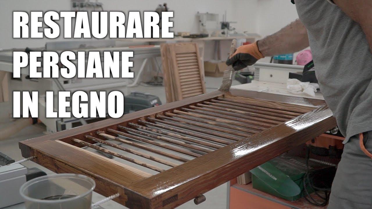 Come restaurare delle persiane in legno verniciatura del for Disegno finestra con persiane