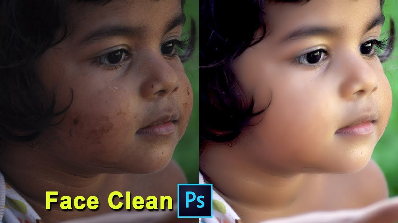 How To Clean Skin Face Photoshop CC In Hindi