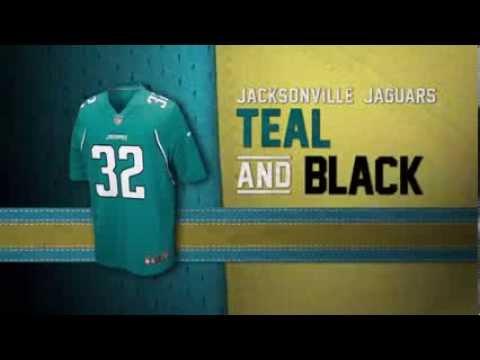 d56aedd2f Jacksonville Jaguars uniform and uniform color history - YouTube