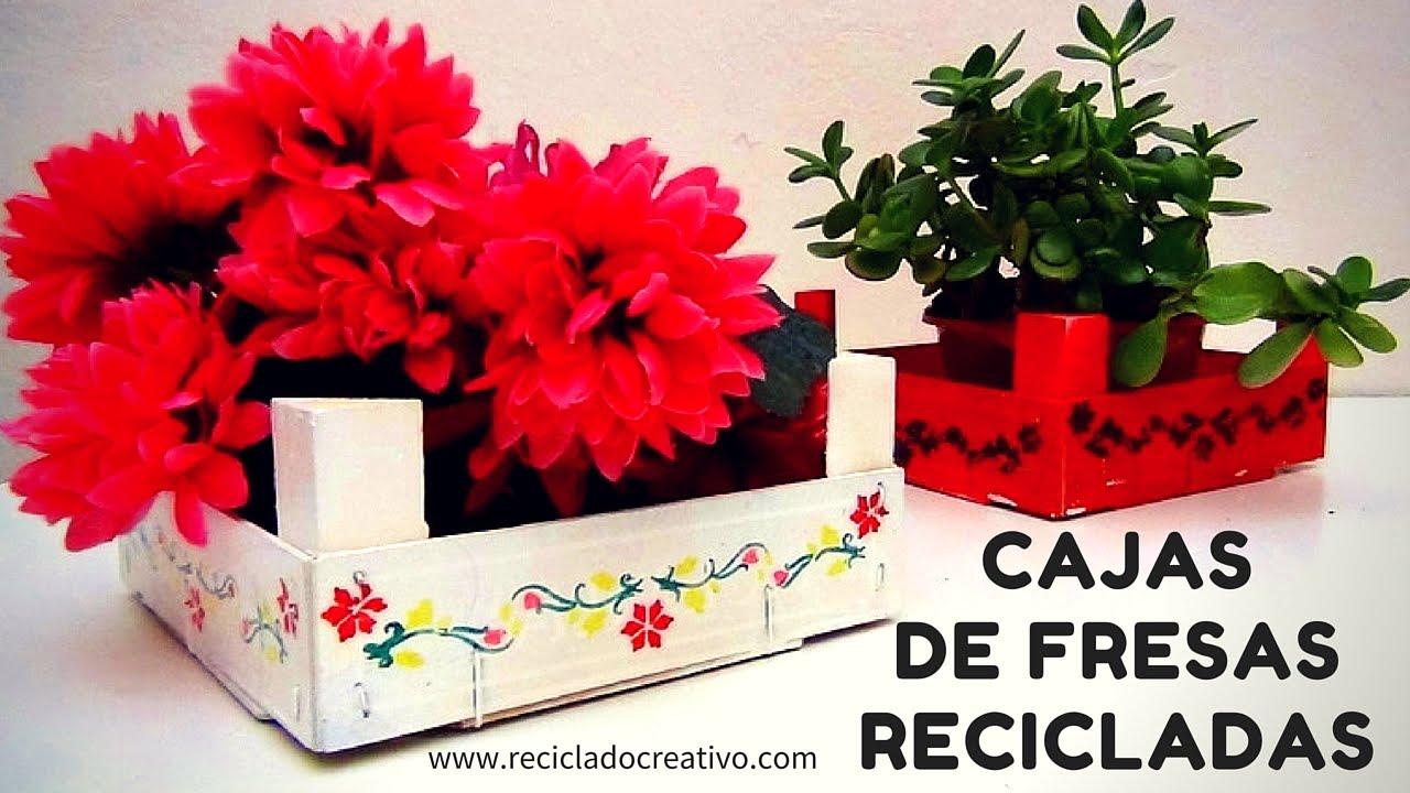 C mo reciclar cajas de fresas y convertirlas en un objeto for Imagenes de reciclaje de madera