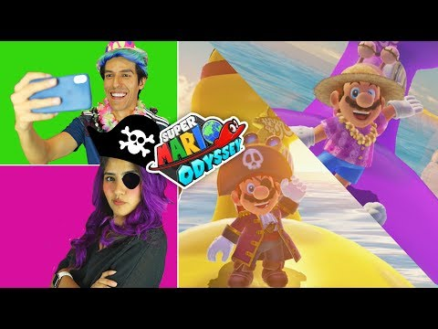 ALL TROPICL COSTUMES AT SUPER MARIO ODISSEY GAMEPLAY