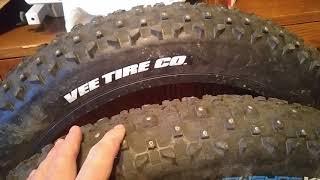 VeeTire SnowShow Studded XL tire, Bargain Fat bike Studz?
