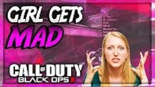 Black ops 2 Mod Troll Girl Freaks Out When I Turn Her Screen Off!