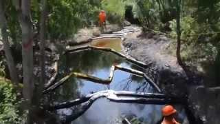 Derrame de Pemex en el río San Juan (Cadereyta, Nuevo León)