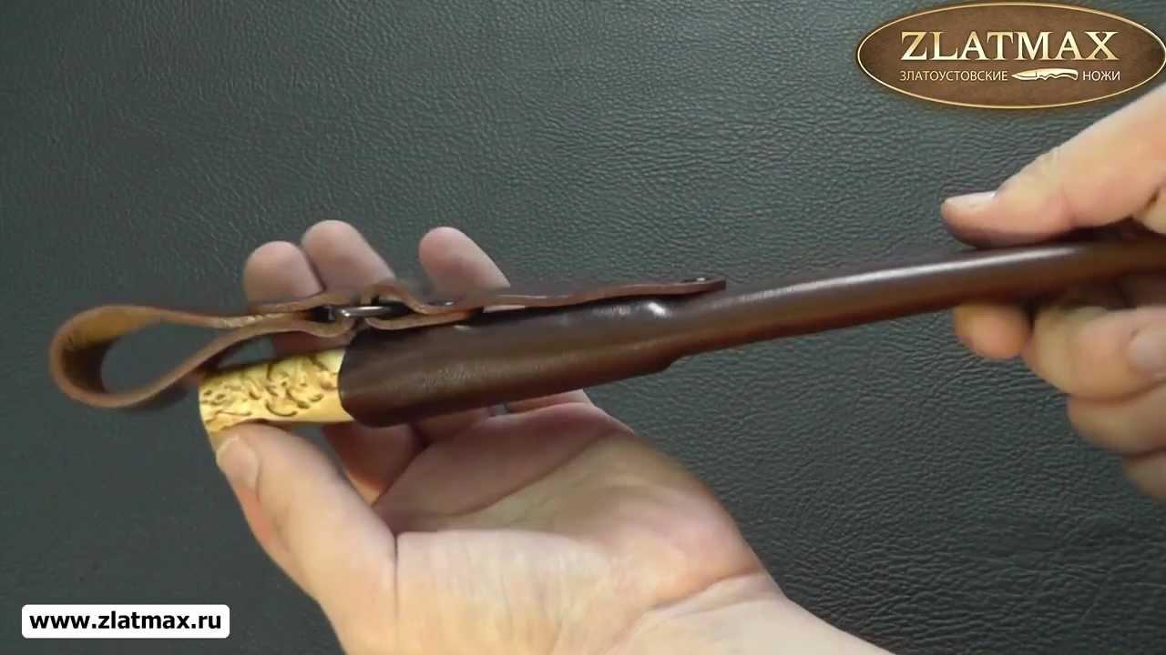 Видео Нож Пескарь (95Х18, Карельская берёза, Текстолит)