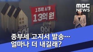 종부세 고지서 발송…몇 명이 얼마나 더 내길래 '폭탄'? (2018.12.01/뉴스데스크/MBC)
