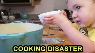 Toddler Cooking Disaster