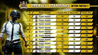 HOW TO MAKE PUBG MOBILE TURNAMENT POINT TABLE IN PHOTOSHOP CC |  TURNAMENT POINTS TABLE PSD FOR FREE