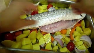 РЫБА С КАРТОШКОЙ В ДУХОВКЕ КЕФАЛЬ В ДУХОВКЕ #рыба #fish