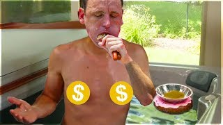 He Cooks His Food in a Hot Tub