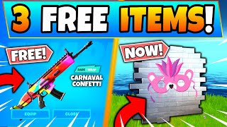 HOW TO GET 3 FREE ITEMS *NOW* in Fortnite! - Carnaval Confetti Skins and Sprays in Battle Royale!
