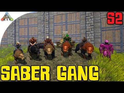 ARK: Survival Evolved - Sabre Gang W/ Zeuljin, Sl1pg8r, Mazion, MrMeola And Draax! (Gameplay)