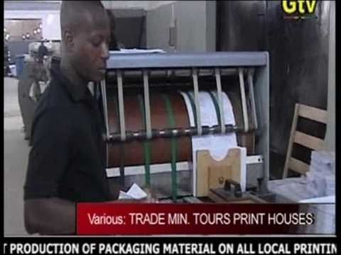 GTV News (Ghana) - Trade Minister Tours Print Houses - May 2010