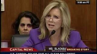 Rep. Marsha Blackburn challenged Former Vice President Al Gore's contribution to environmental charities during an exchange at a subcommittee hearing on ...