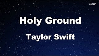 Holy Ground - Taylor Swift Karaoke【No Guide Melody】