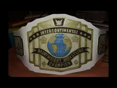 how to make wwe intercontinental championship belt youtube