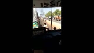 Live man burn in running car near detrol,sabarkantha,Gujarat
