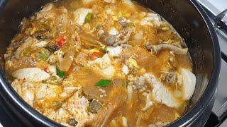 김치 순두부김치찌개 맛있게 만드는 방법,순두부김치찌게 …