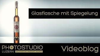 Glasflasche mit Spiegelung fotografieren - Fotografie Blog von Photostudio Luzern