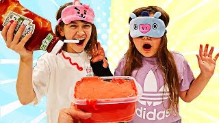 FIX THIS SLIME BLINDFOLDED CHALLENGE! Cilla CHEATED! | JKrew