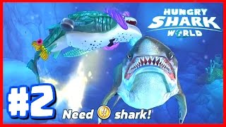 Hungry Shark World Ep 2 - BIGGEST SHARK IN THE GAME! - Hungry Shark World Whale Shark Vs Megalodon!