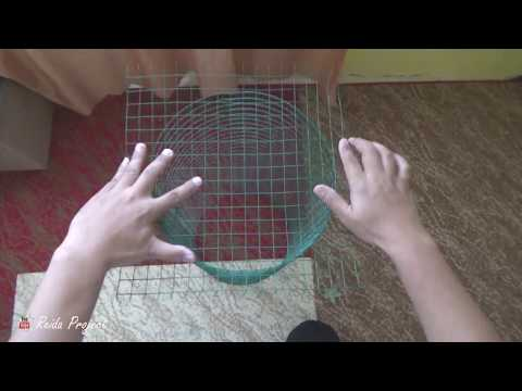 How To Make Fish Trap - Building A Bait Fish Trap For $2