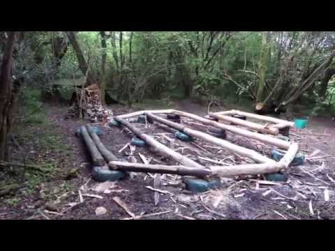 Off grid roundhouse build part 1 The base