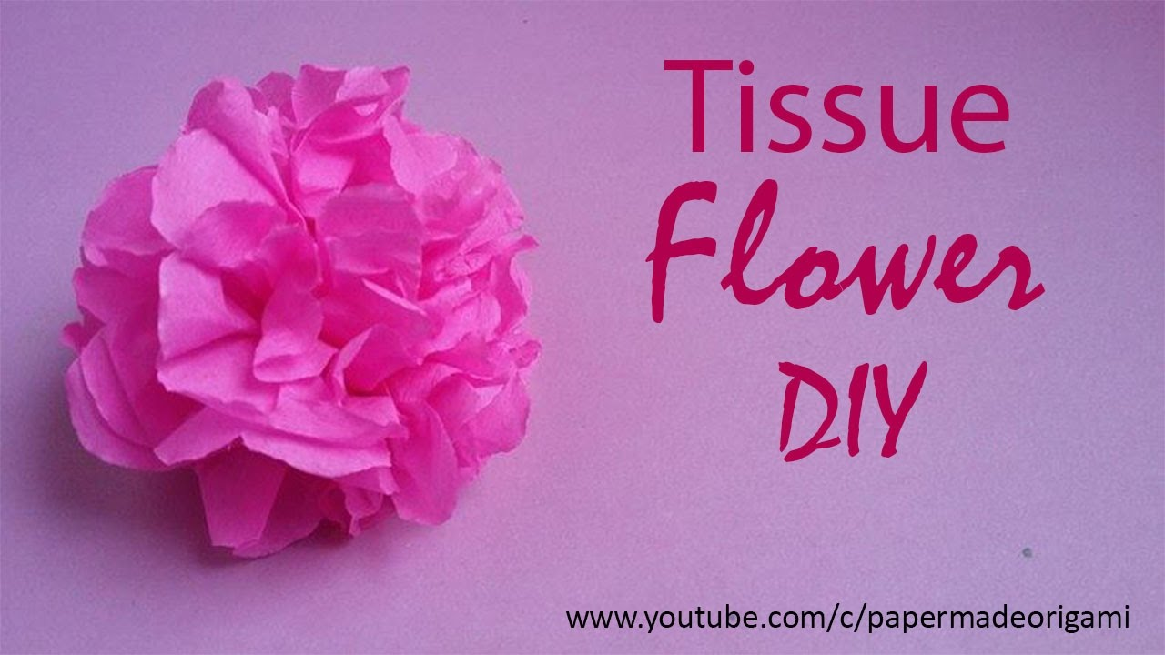 Flowers With Tissue Paper Diy Crafts Youtube