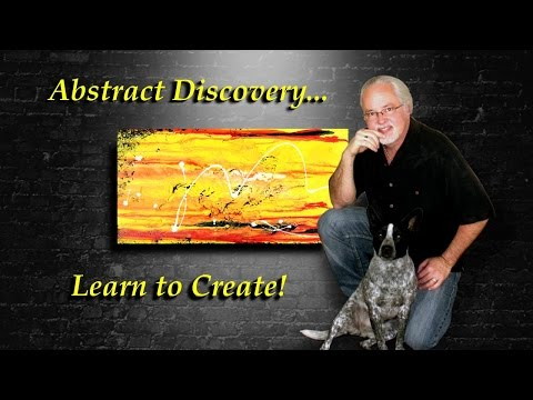 Learn abstract art painting designs and techniques! Teaser.