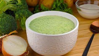 Recette de soupe/potage crémeux aux brocolis incroyablement simple et rapide !