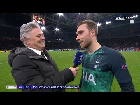 """""""We had heart and Lucas Moura!"""" Christian Eriksen reacts to Spurs reaching Champions League final"""