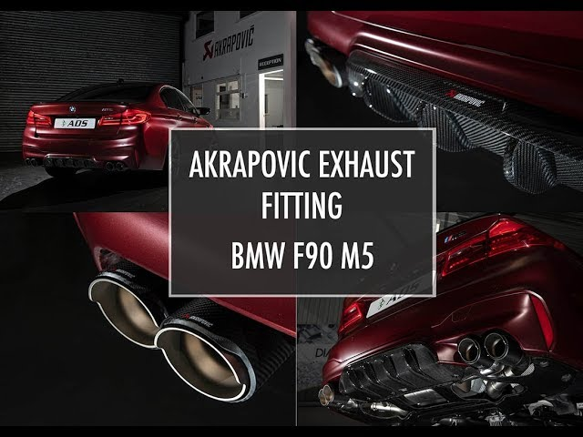 Akrapovic Exhaust fitting - F90 BMW M5