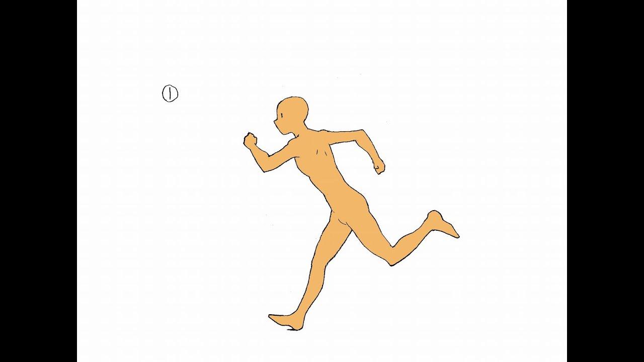 横走りの作画drawing Of Running Youtube