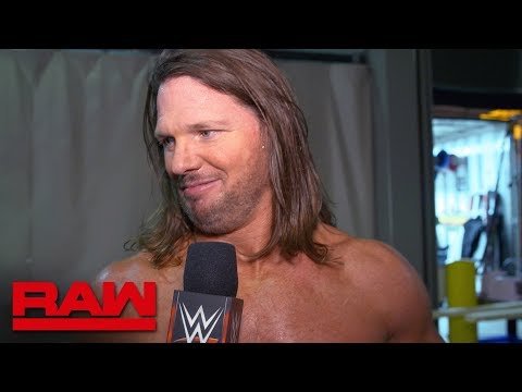 AJ Styles is about to make Raw his house: Raw Exclusive, April 15, 2019