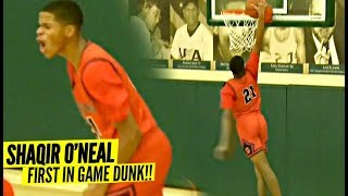Shaqir O'Neal FIRST In-Game DUNK!!! He Just LEVELED UP For Crossroads! About to Be a PROBLEM!!