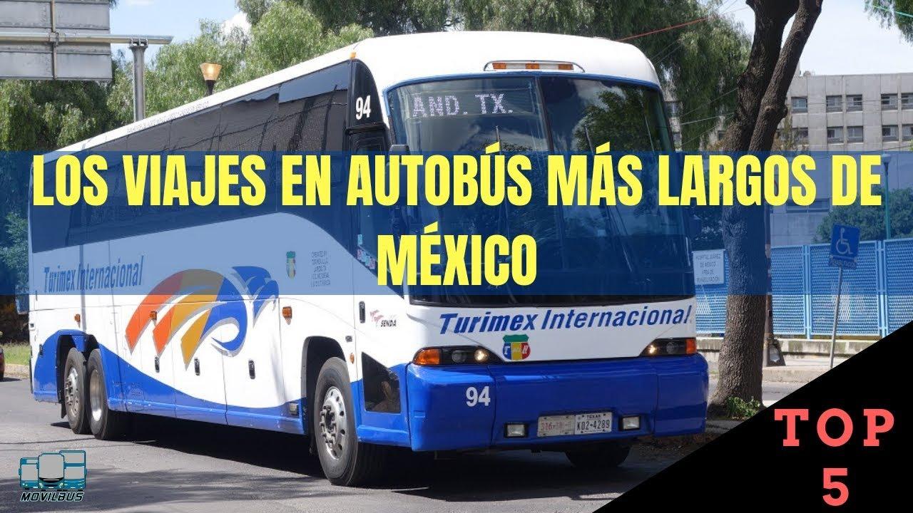 Los 5 viajes en autobús más largos de México.