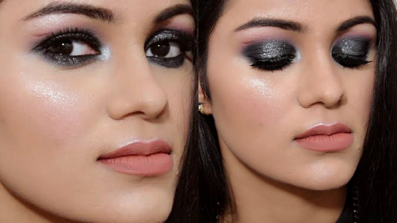easy smokey eye makeup tutorial in hindi |get ready with me - youtube