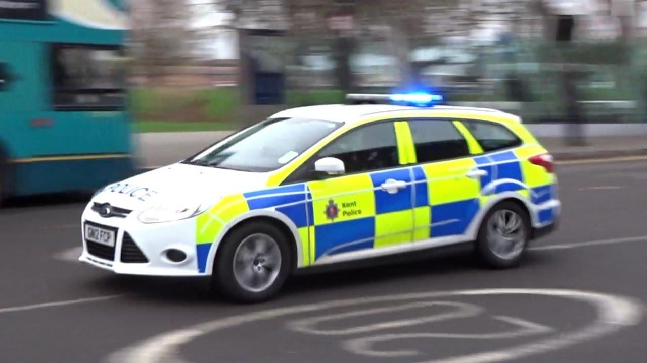 kent police cars responding x2 youtube. Black Bedroom Furniture Sets. Home Design Ideas
