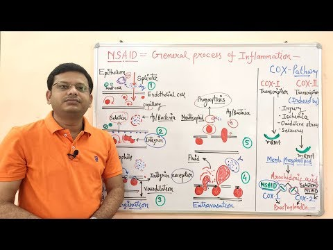 NSAID- Non Steroidal Anti Inflammatory Drugs (Part- 02) = Process Of Inflammation (HINDI)