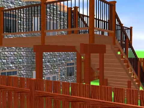 Deck high level youtube for High elevation deck plans