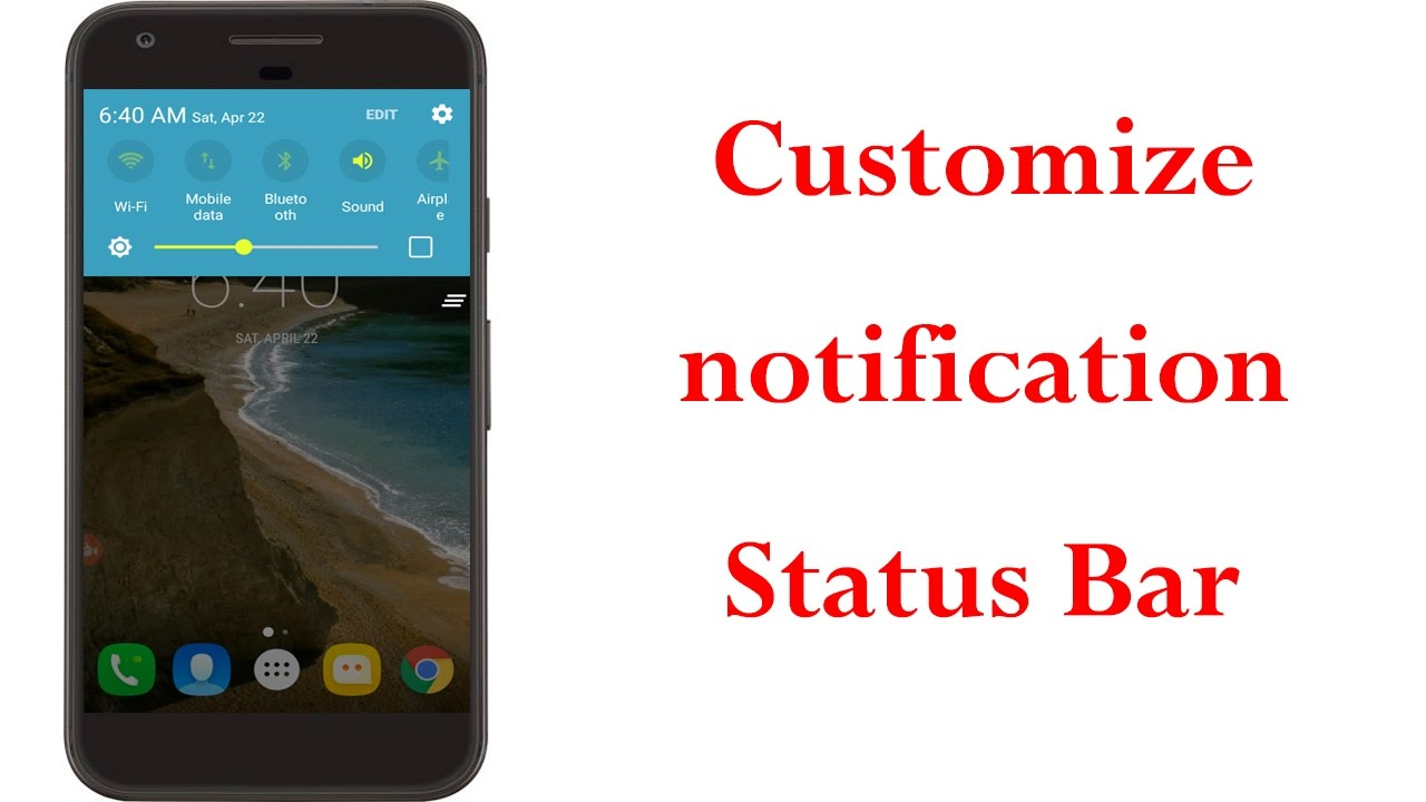 How To Change Notification Panel & Status Bar colour On Android||Without  Root